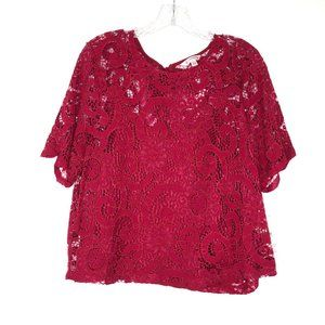 NANETTE NANETTE LEPORE Lace Tie Back Closure Top